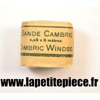 Bande cambric, pansement Armée Belge Première Guerre Mondiale.