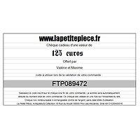 Chèque cadeau de 125 euros