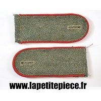 Reproduction de pattes d'épaules wehrmacht Artillerie (rouge)