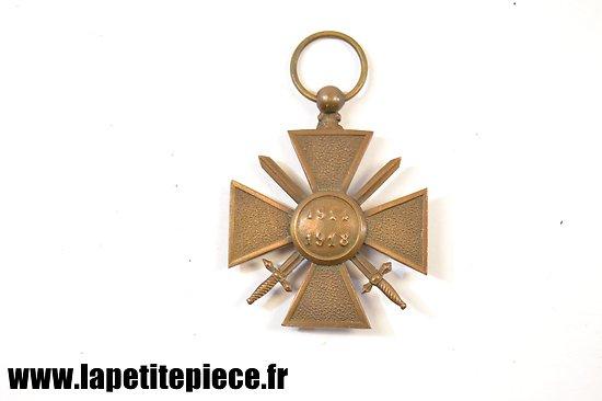 Croix de guerre 1914-1918 sans ruban