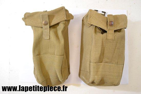 Paire de cartouchières complémentaires pour chargeurs FM Bren, grenades ...