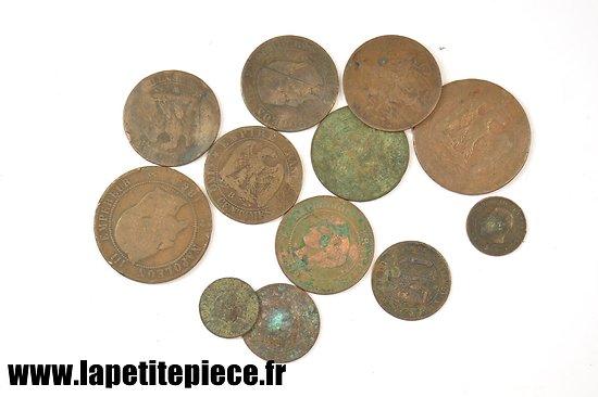 Lot de monnaies Française fin 19e - début 20e Siècle.