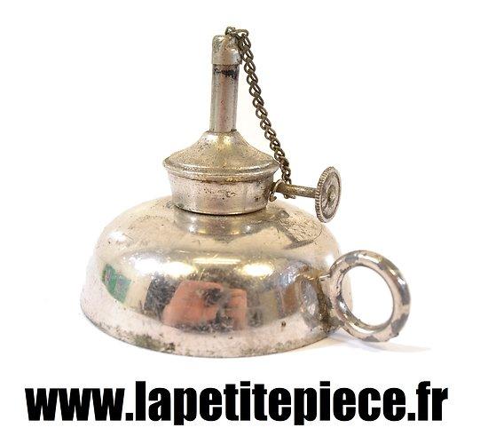 Petite lampe / bougeoir à essence, époque Première Guerre Mondiale