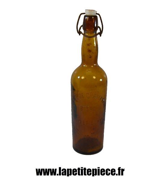Bouteille de bière Française époque Première Guerre Mondiale.
