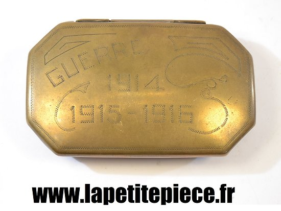 Boite artisanat souvenir Guerre 1914 - 1915 - 1916