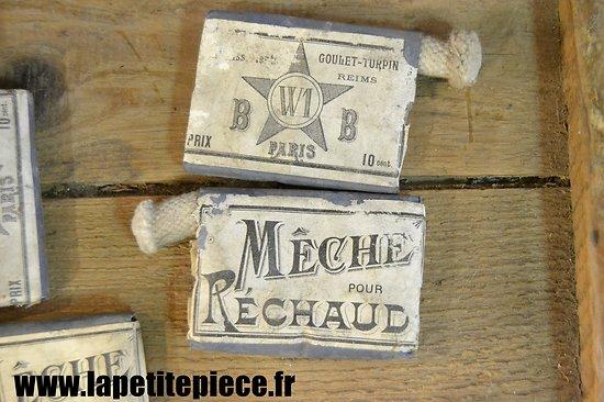 Mèche pour réchaud époque WW1. Goulet-Turpin Reims