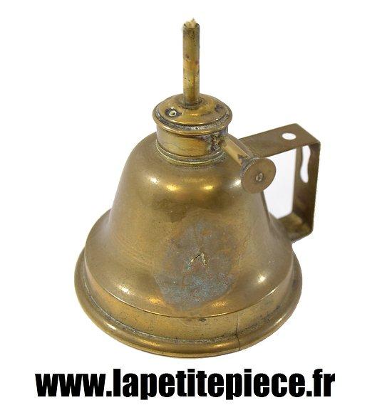 Lampe / bougeoir à essence ou pétrole WWI