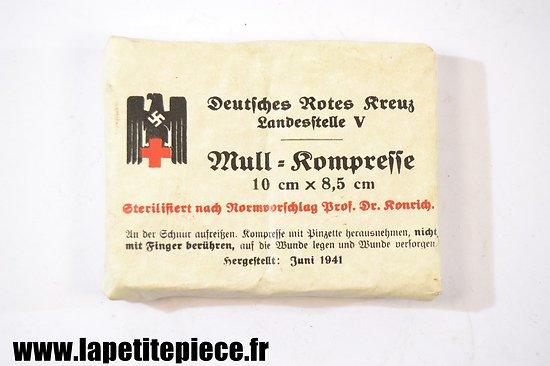Mullkompresse 10cm x 8,5cm D.R.K. 1941