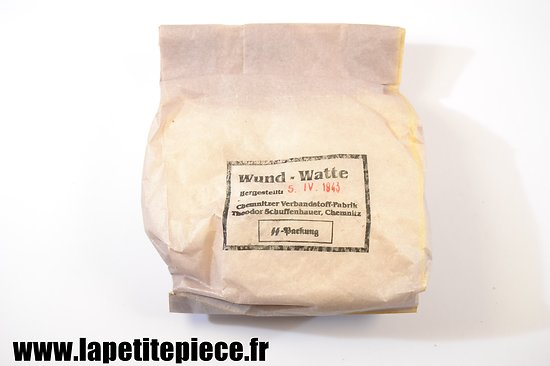 Wund-Watte 1943 Theodor Schuffenhauer, SS Packung