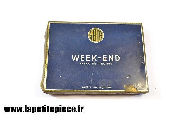 Boite de cigarettes Françaises époque Deuxième Guerre Mondiale. WEEK-END