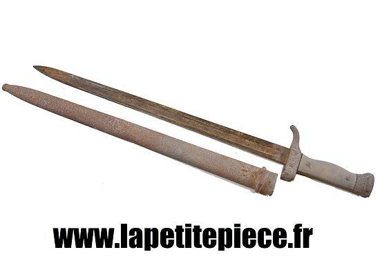 Baionnette Berthier 1892 premier type, quillon court. A restaurer