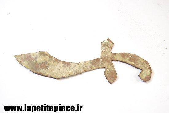 Petit coupe papier artisanal de soldat - Première Guerre Mondiale