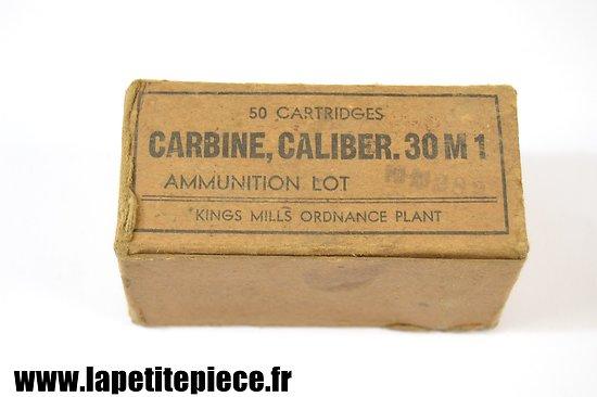 Boite vide 50 cartidges Carbine caliber 30M1 Kings Mills Ordonnance Plant