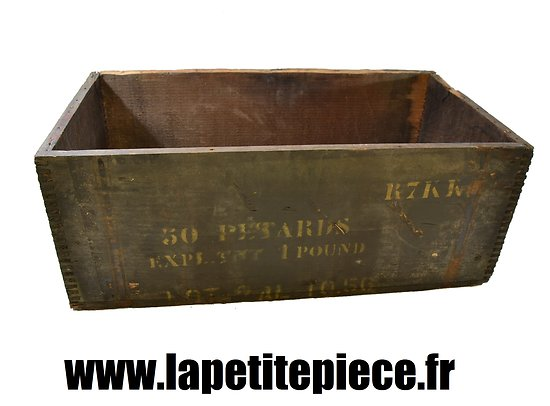 Caisse américaine WW2 Génie reconditionnée Armée Française