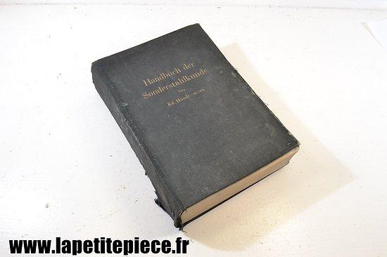 Livre Allemand de 1943 - métallurgie