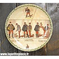 Assiette humoristique Armée Française WWI