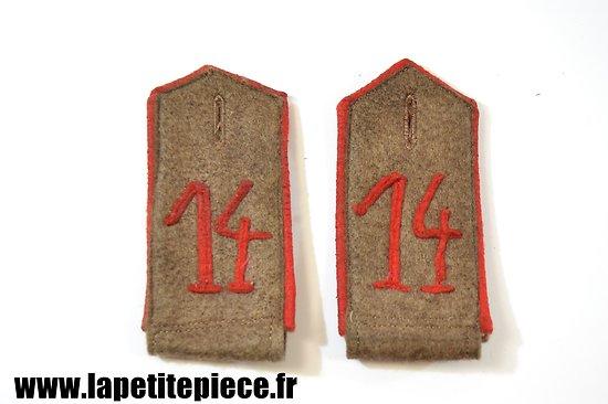 Repro paire de pattes d'épaule modèle 1907 Allemande Première Guerre Mondiale