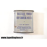 Insecticide Powder for Body Crawling Insects 2oz, US WW2. Boite bleue