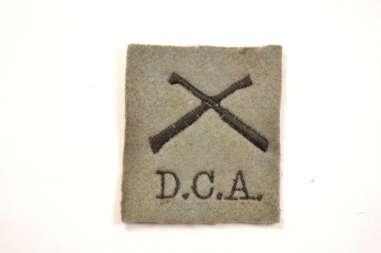 Repro insigne tissu D.C.A. DCA Défense contre avion attribut de manche Français Première Guerre Mondiale. France WW1