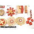 Lot de broches Croix Rouge Suisse années 1930 - 1950