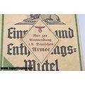 "Paquet de lessive Allemand Henko étiquette ""Fur die Deutschen Armee"" WW2"