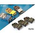 Lot x 3 jeep US Dinky Toys restaurées