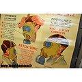 Affiche défense passive 1939 - Un masque protège efficacement lorsqu'il est correctement ajusté. Masque à gaz