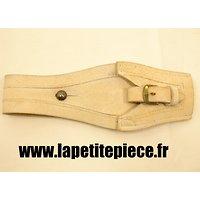 Gousset porte baionnette 1892 Berthier Mousqueton. Cuir blanc, Gendarmerie / Garde Nationale