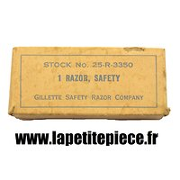 Rasoir en boite US ARMY, 1 RAZOR SAFETY Stock 25-R-3350 Gillette Safety Razor Compagny