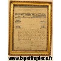 Lettre d'un prisonnier de Guerre 3 régiment d'Infanterie de Marine 1870