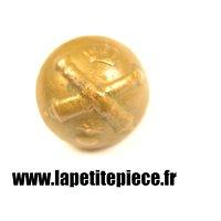 Bouton 18mm artillerie royale (couronne + grenade enflammée) France