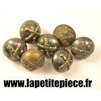 Bouton 15mm artillerie argent, France