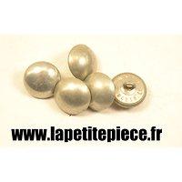 Bouton 20mm lisse aluminium France