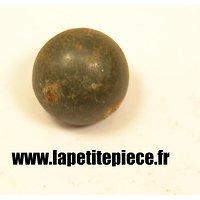 Bouton 20mm demi rond lisse peitn gris / vert
