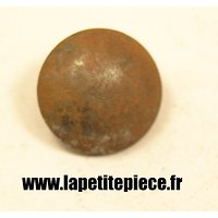 Bouton 25mm lisse fer France WW1