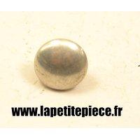 Bouton 15mm lisse aluminium France