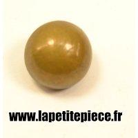 Bouton 17,5mm lisse demi rond laiton France