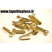 Crochet support de ceinturon laiton, France WW1 / WW2
