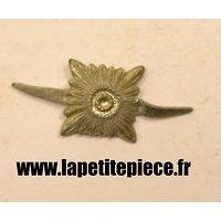 Insigne pour patte de col sous-officier Allemand, aluminium 12,5mm x 12,5mm