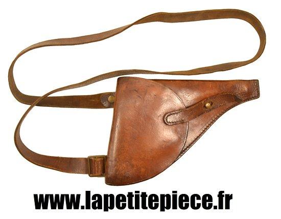 Etui simplifié avec baudrier revolver 1892 Français Première Guerre Mondiale.