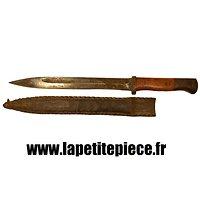 Couteau de combat réalisé avec une baionnette 98K