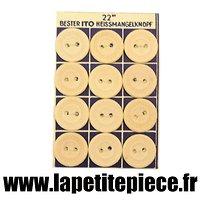 Planche de 12 boutons Allemands pour col de vareuse et sous-vêtements