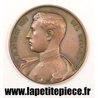 Médaille Belge Sa Majesté Albert Roi des Belges 5 aout 1914