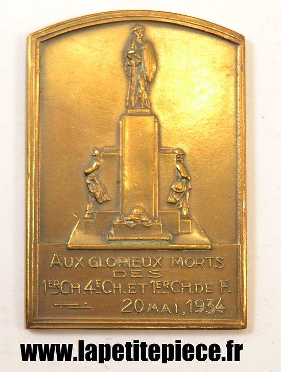 Médaille hommage aux glorieux chasseurs Belges 1914 - 1918