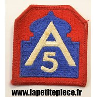 Repro insigne brodé 5th Army US