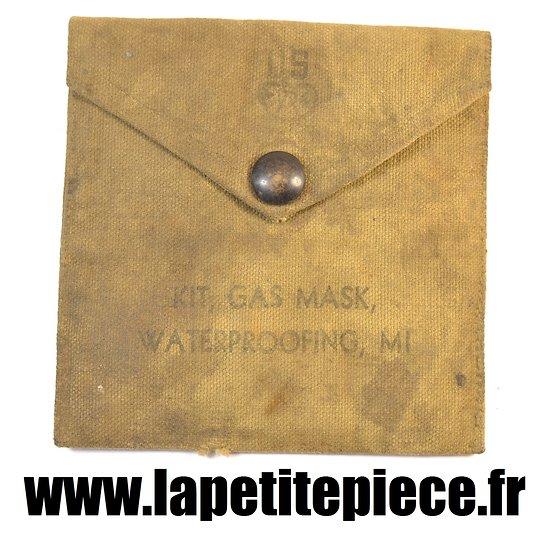 Necessaire d'étanchéification pour masque à gaz US WW2