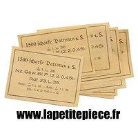 Repro étiquette caisse Allemande Patronenkasten 88