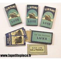 Boite de 5 lames de rasoir ILE DE FRANCE, Français Deuxième Guerre Mondiale