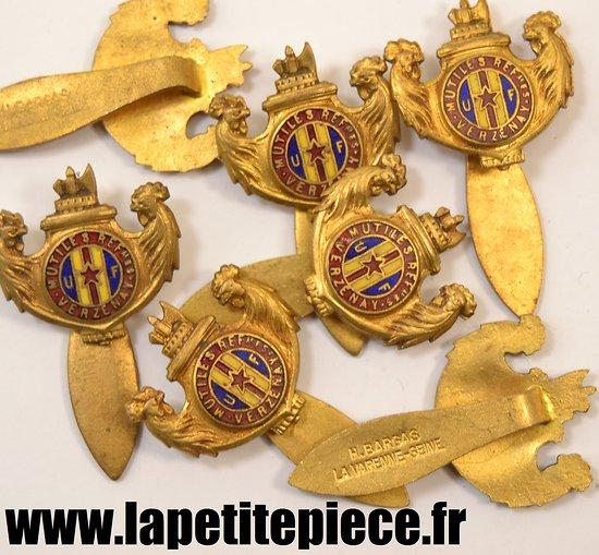 Broche Union Française des Mutilés et Reformés de la ville de VERZENAY