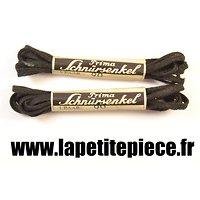 Paire de lacets Allemands PRIMA noir 90cm